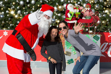 Holiday On Ice  2012 Santa, child, and Kings Ice Crew team member