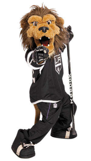 LA Kings Mascot Bailey